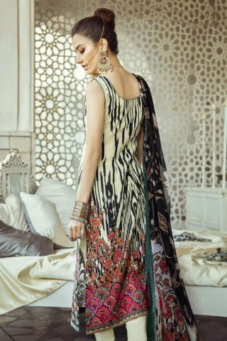Sheesh Mahal by Cross Stitch Embroidered Lawn Unstitched 3 Piece Suit CSL20 19 Astral Ikat – Lawn Collection