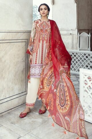 Sheesh Mahal by Cross Stitch Embroidered Lawn Unstitched 3 Piece Suit CSL20 20 Ethno Serene - Lawn Collection