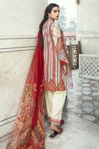 Sheesh Mahal by Cross Stitch Embroidered Lawn Unstitched 3 Piece Suit CSL20 20 Ethno Serene – Lawn Collection