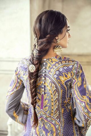 Sheesh Mahal by Cross Stitch Embroidered Lawn Unstitched 3 Piece Suit CSL20 25 Purple Glaze - Lawn Collection