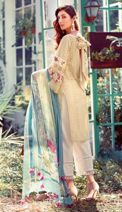 Elaf Luxury Embroidered Lawn Unstitched 3 Piece Suit EFLL20-06 – Summer Collection