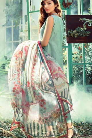 Elaf Luxury Embroidered Lawn Unstitched 3 Piece Suit EFLL20-09 - Summer Collection