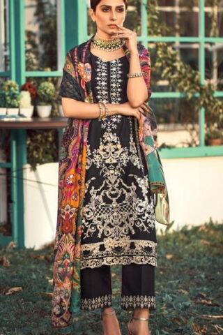 Elaf Luxury Embroidered Lawn Unstitched 3 Piece Suit EFLL20-12 - Summer Collection