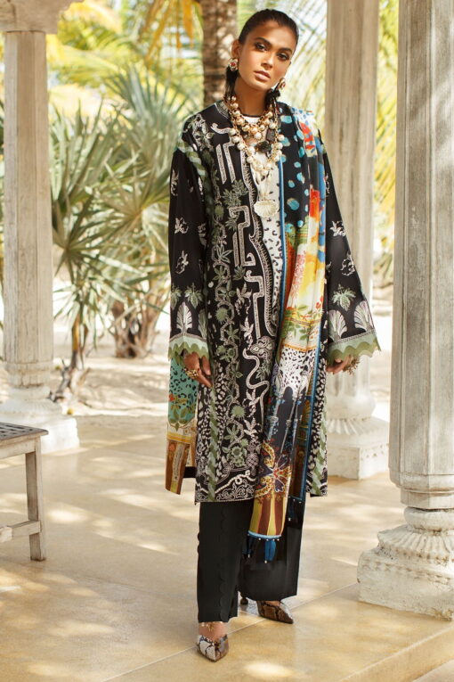 Elan Luxury Lawn Unstitched 3 Piece Suit ELL20 01 A NYOTA – Lawn Collection