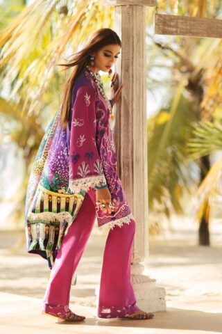Elan Luxury Lawn Unstitched 3 Piece Suit ELL20 01 B NYOTA - Lawn Collection