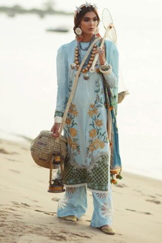 Elan Luxury Lawn Unstitched 3 Piece Suit ELL20 05 B MARINI - Lawn Collection