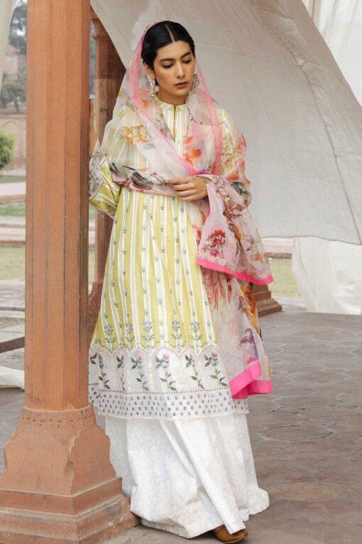 Zara Shahjahan Luxury Embroidered Lawn Unstitched 3 Piece Suit ZSL20 JEHANARA-A – Summer Collection