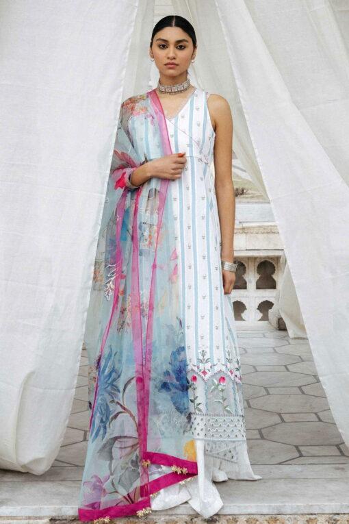 Zara Shahjahan Luxury Embroidered Lawn Unstitched 3 Piece Suit ZSL20 JEHANARA-B – Summer Collection