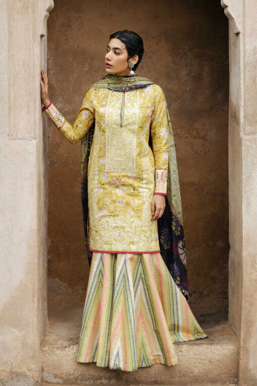 Zara Shahjahan Luxury Embroidered Lawn Unstitched 3 Piece Suit ZSL20 MAHIN-A – Summer Collection