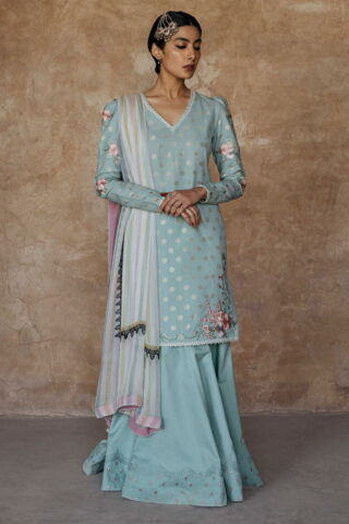 Zara Shahjahan Luxury Embroidered Lawn Unstitched 3 Piece Suit ZSL20 MEHARBANO-B - Summer Collection