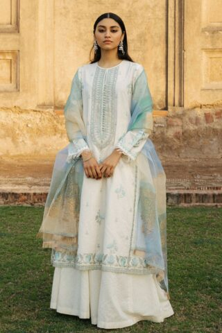 Zara Shahjahan Luxury Embroidered Lawn Unstitched 3 Piece Suit ZSL20 MEHNAZ-A - Summer Collection