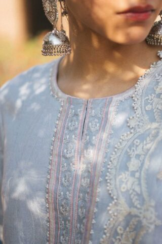 Zara Shahjahan Luxury Embroidered Lawn Unstitched 3 Piece Suit ZSL20 MUMTAZ-A - Summer Collection