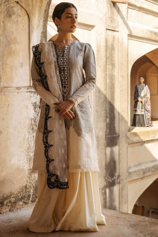 Zara Shahjahan Luxury Embroidered Lawn Unstitched 3 Piece Suit ZSL20 MUMTAZ-B – Summer Collection