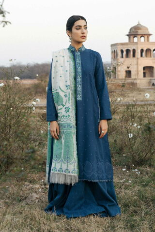 Zara Shahjahan Luxury Embroidered Lawn Unstitched 3 Piece Suit ZSL20 SAHIBO-B - Summer Collection