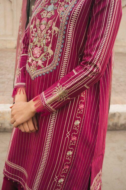 Zara Shahjahan Luxury Embroidered Lawn Unstitched 3 Piece Suit ZSL20 ZEENAT-B – Summer Collection