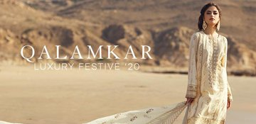 Qalamkar Luxury Festive Lawn Collection 2020 Site banner