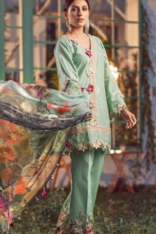 Elaf Luxury Embroidered Lawn Unstitched 3 Piece Suit EFLL20-03 - Summer Collection