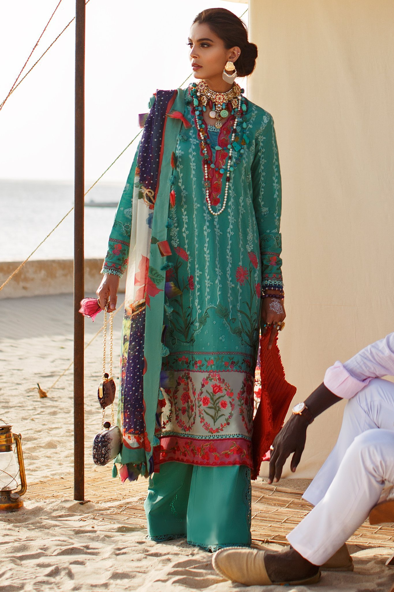 Elan Luxury Lawn Unstitched 3 Piece Suit ELL20 04 B NALAH - Lawn Collection