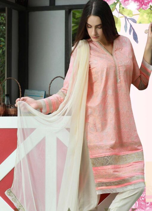 Lakhany Chikankari Lawn Unstitched 3 Piece Suit LSMCL18 801 - Lawn Collection