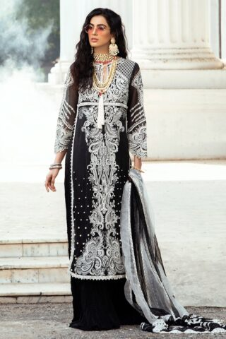 Mushq Luxury Chikankari Festive Lawn Unstitched 3 Piece Suit MFL20-01 - Summer Collection