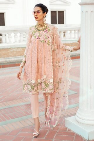 Mushq Luxury Chikankari Festive Lawn Unstitched 3 Piece Suit MFL20-07 - Summer Collection