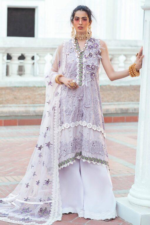 Mushq Luxury Chikankari Festive Lawn Unstitched 3 Piece Suit MFL20-08 - Summer Collection