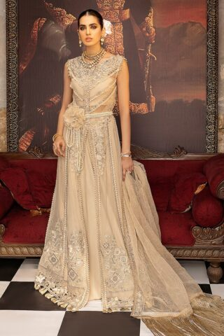 Mushq Embroidered Chiffon Unstitched 3 Piece Suit MQFC20 2 AURORA - Luxury Collection