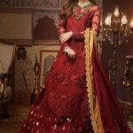 Asim Jofa Embroidered Organza Unstitched 3 Piece Suit AJFC20 03 - Luxury Collection