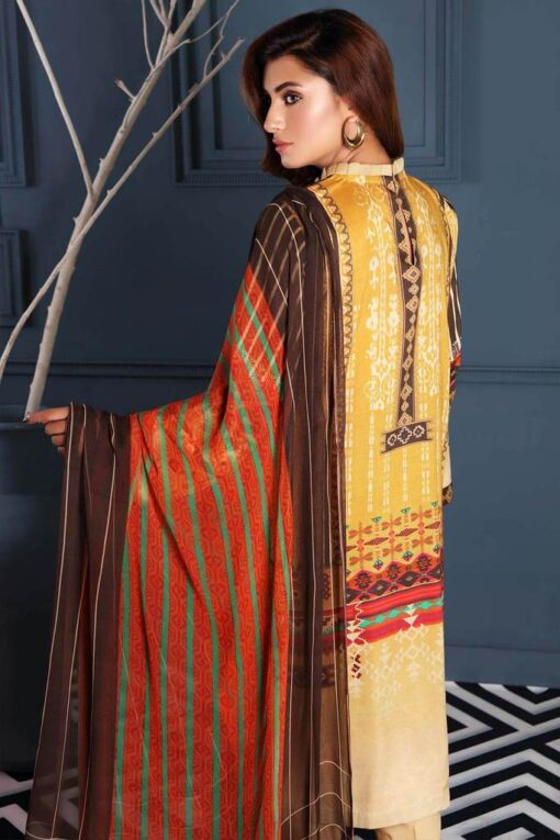 Charizma Embroidered Linen Unstitched 3 Piece Suit CCWL20 02 – Winter Collection