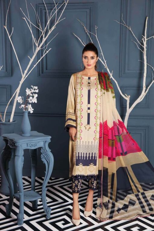 Charizma Embroidered Linen Unstitched 3 Piece Suit CCWL20 09 – Winter Collection