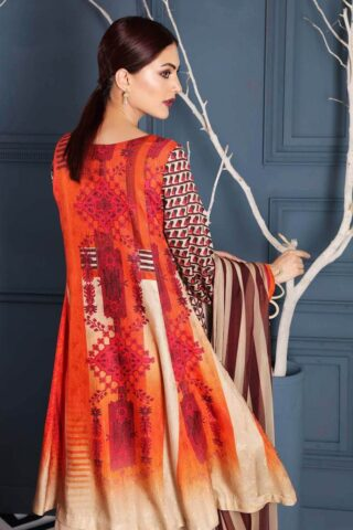 Charizma Embroidered Linen Unstitched 3 Piece Suit CCWL20 10 - Winter Collection
