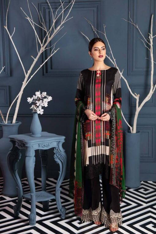 Charizma Embroidered Linen Unstitched 3 Piece Suit CCWL20 12 – Winter Collection