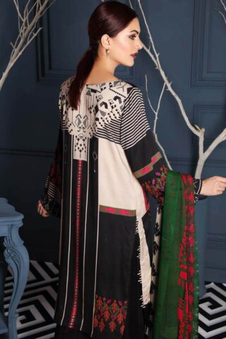 Charizma Embroidered Linen Unstitched 3 Piece Suit CCWL20 12 - Winter Collection