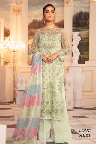 Falaknuma by Iznik Embroidered Net Unstitched 3 Piece Suit IZFC20 02 Meltem - Wedding Collection