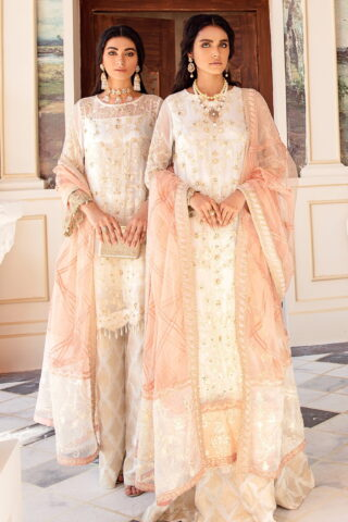 Falaknuma by Iznik Embroidered Chiffon Unstitched 3 Piece Suit IZFC20 10 SEFFAF - Wedding Collection