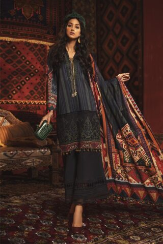 Mprints by Maria B Unstitched 3 Piece Cambric Suit MBMP20 11B - Winter Collection