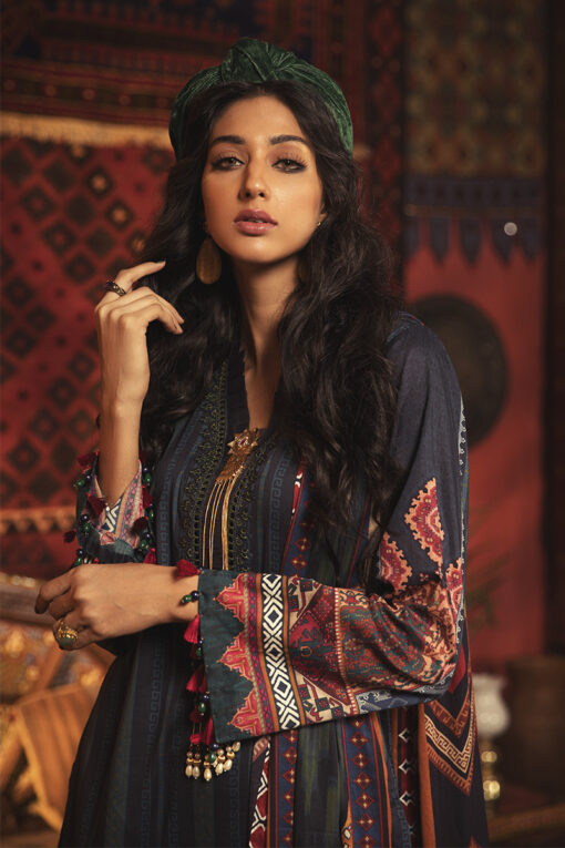 Mprints by Maria B Unstitched 3 Piece Cambric Suit MBMP20 11B – Winter Collection