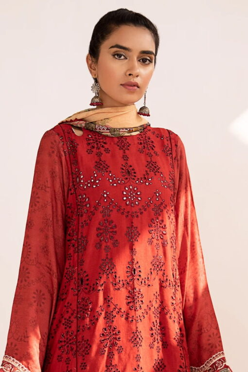 Qline by Qalamkar Embroidered Linen Unstitched 3 Piece Suit QQLNW20 03 – Winter Collection