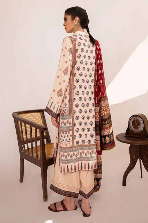 Qline by Qalamkar Embroidered Linen Unstitched 3 Piece Suit QQLNW20 07 - Winter Collection