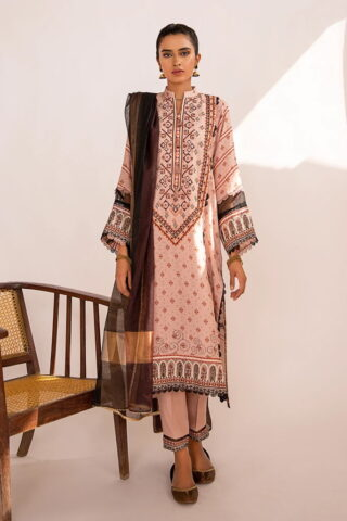 Qline by Qalamkar Embroidered Linen Unstitched 3 Piece Suit QQLNW20 09 - Winter Collection