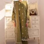 Qline by Qalamkar Embroidered Linen Unstitched 3 Piece Suit QQLNW20 10 - Winter Collection