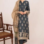 Qline by Qalamkar Embroidered Linen Unstitched 3 Piece Suit QQLNW20 11 - Winter Collection