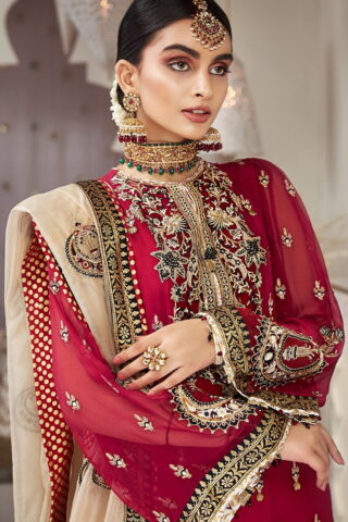 Nargis by Anaya Embroidered Chiffon Unstitched 3 Piece Suit AKCNC20 02 Shahrnaz - Wedding Collection
