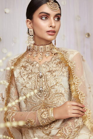 Nargis by Anaya Embroidered Net Unstitched 3 Piece Suit AKCNC20 03 Mehrbano - Wedding Collection