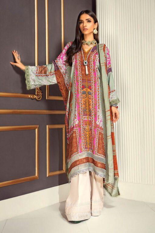 Muzlin by Sana Safinaz Linen Unstitched 2 Piece Suit MWSS20 03A – Winter Collection