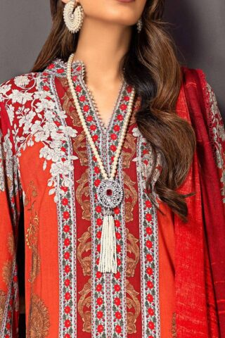 Muzlin by Sana Safinaz Linen Unstitched 3 Piece Suit MWSS20 03B - Winter Collection