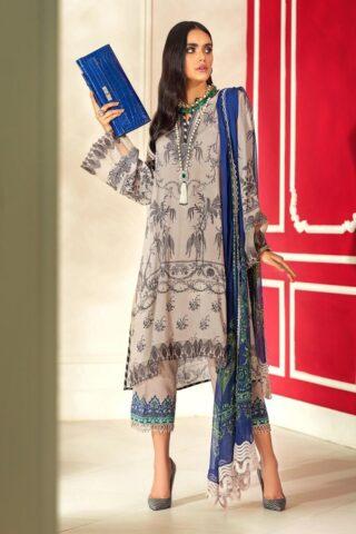 Muzlin by Sana Safinaz Linen Unstitched 3 Piece Suit MWSS20 05A - Winter Collection