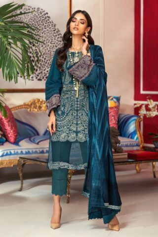 Muzlin by Sana Safinaz Wool Unstitched 3 Piece Suit MWSS20 06B -  Winter Collection