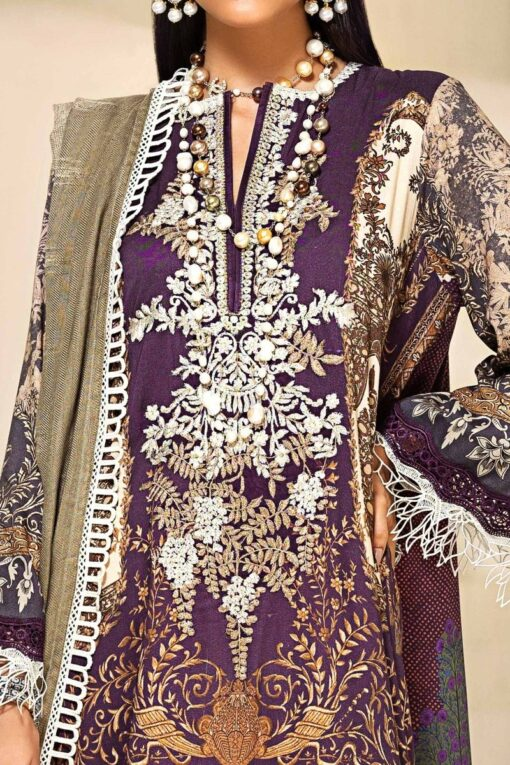 Muzlin by Sana Safinaz Linen Unstitched 2 Piece Suit MWSS20 07A – Winter Collection