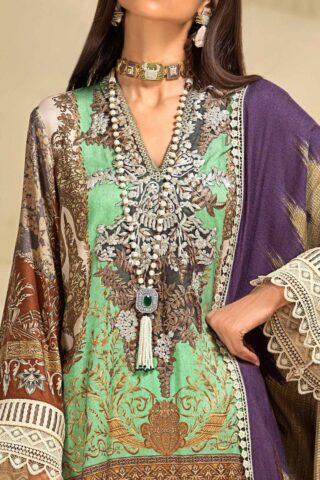 Muzlin by Sana Safinaz Linen Unstitched 3 Piece Suit MWSS20 07B -  Winter Collection